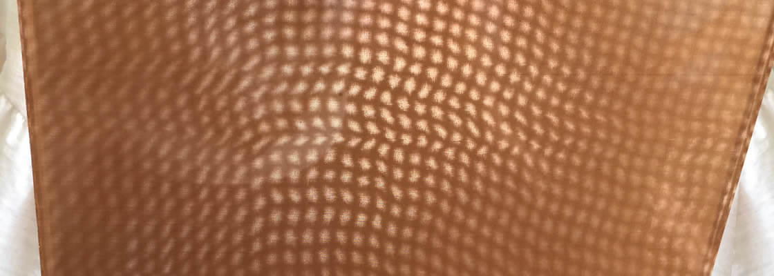 A piece of copper fine mesh with strange pattern