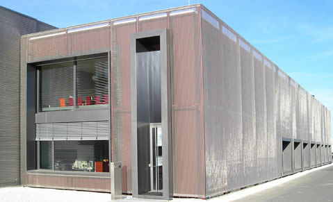 Decorative Metal Facade Mesh Dress Up Buildings With Noble