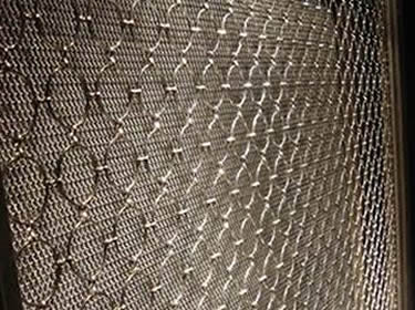 Decorative Ring Mesh Curtain Brass And Copper